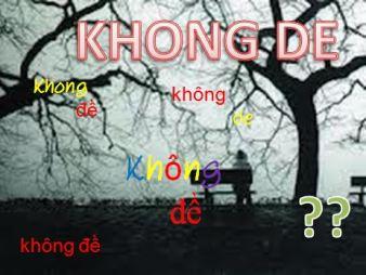Khong De